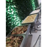 espaço para evento com buffet orçamento Jardim Piratininga