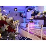 lugar com espaço para evento empresarial Jardim das Flores