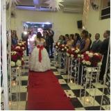 salão para casamento decorado valor Vila Yara
