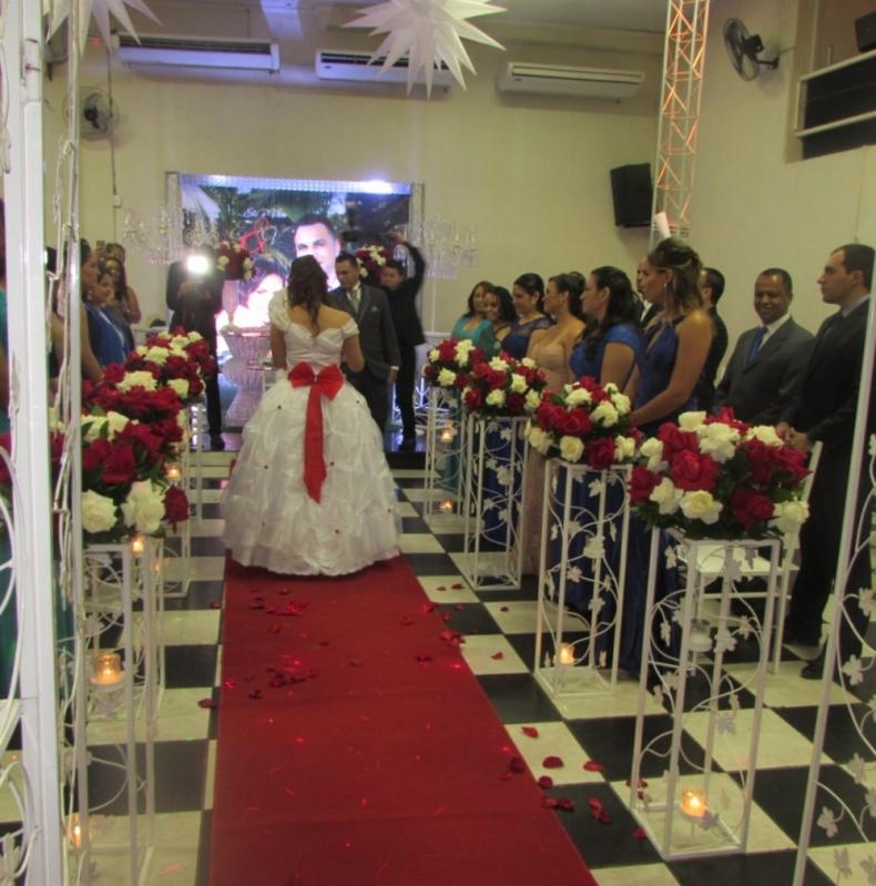 Salao para Casamento Decorado Valor Adalgisa - Salão para Casamento Festa