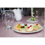 buffet com espaço para festa de empresa Santa Maria